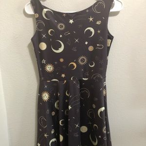 Super stretchy star and moon dress